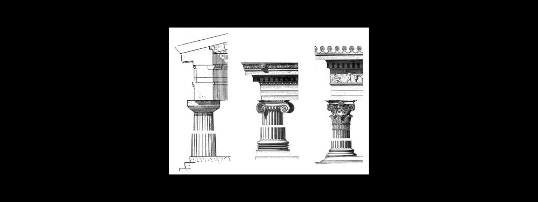 Fotografia: Schemat porządków architektonicznych