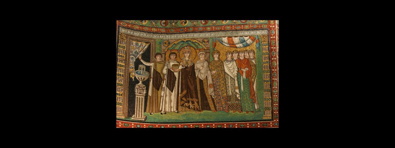 Fotografia: Mozaiki w prezbiterium kościoła San Vitale w Rawennie