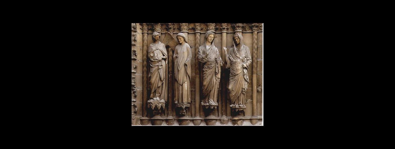 Fotografia: Rzeźba Nawiedzenia z portalu w Reims