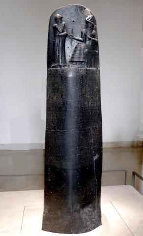 Fotografia: Stela z Kodeksem Hammurabiego