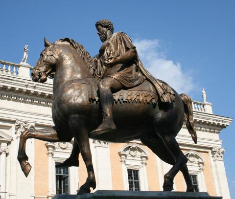 Fotografia: Posąg konny Marka Aureliusza