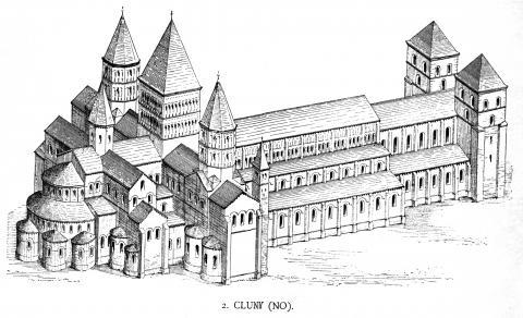 Fotografia: Kościół benedyktynów w Cluny
