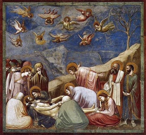 Fotografia: Opłakiwanie (kaplica Scrovegnich w Padwie), Giotto